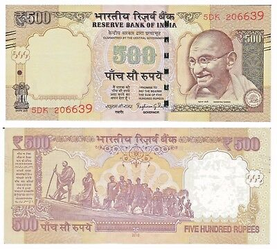 INDIA, 500 Rupees Note, 2016