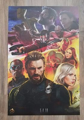 2017 SDCC Marvel Avengers CAPTAIN AMERICA Infinity War Exclusive POSTER