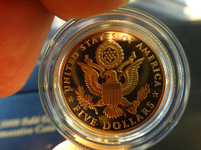 US 2008 W Bald Eagle Commemorative $5 Gold Coin Proof w/COA and Original Case
