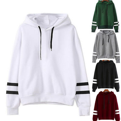 UK Women Hoodie Sweatshirt Ladies Casual Hooded Jumper Pullover Baggy Top Blouse