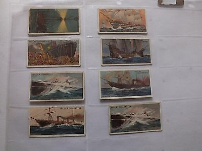 Wills Cigarettes Celebrated Ships X 8 Cards