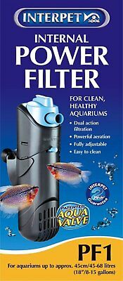 Interpet Internal Aquarium Power Filter for Fish Tanks, PF1/ FREE UK Delivery