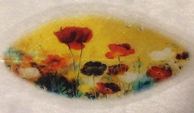 Artistic Poppy 100% Real Leaf Veins Bookmark Best Gift for her and him