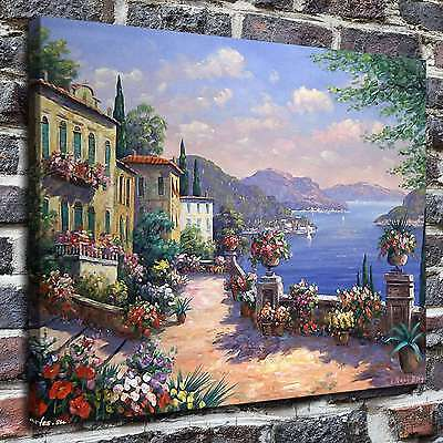 "12""x16"" Mediterranean Painting HD Print on Canvas Home Decor Wall Art Picture-"