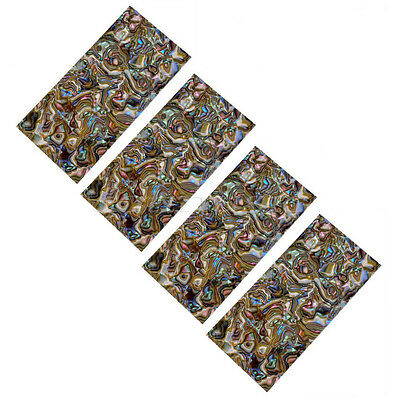 4Pcs Multicolor Celluloid Guitar Head Veneer Shell Sheet also for jewelry making