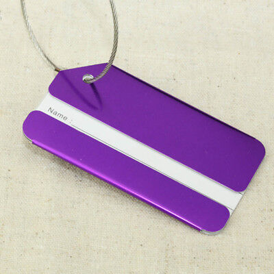 Compact Aluminium Travel Luggage Tags Suitcase Label Name Address ID Baggage Tag