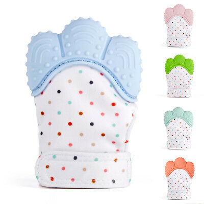 Silicone Baby Mitt Teething Mitten Teething Glove Candy Wrapper Sound Teether BW