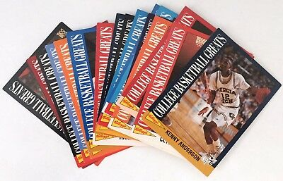 Kelloggs - College Basketball Greats 1992 – Full Collector Card Set
