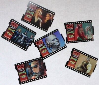 Australian Film Strip Tazo - Batman & Robin Series INCOMPLETE 52 different cards