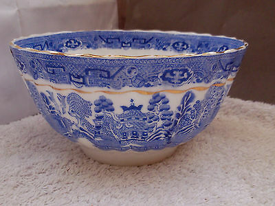 Nibbles Bowl  In Willow Pattern Possibly 1901 - 21 By Salt & Nixon