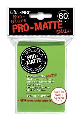 Ultra-Pro Pro-Matte Card Sleeves Lime Green 60ct Small 62x89 NEW