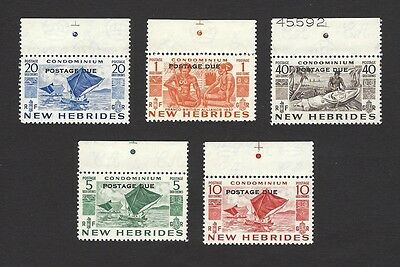 New Hebrides French 1953 Postage Dues MNH SG D11-D15