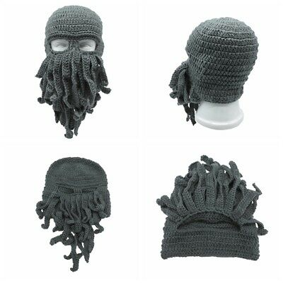 Fashion Tentacle Octopus Cthulhu Knit Beanie Hat Cap Wind Ski Face Mask Cosplay