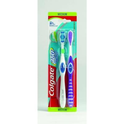 COLGATE 360° - Brosse a dent - Medium - Lot de 2