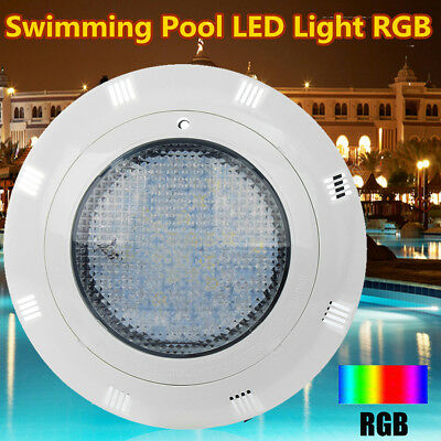 12V 60W 7-Color Underwater Swimming Pool LED RGB Bright Light W/ Remote Control