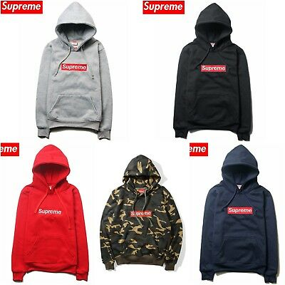 Supreme Hoodie Classic Box Logo Jumper Sweatshirt Embroidered Cotton Coat Jacket