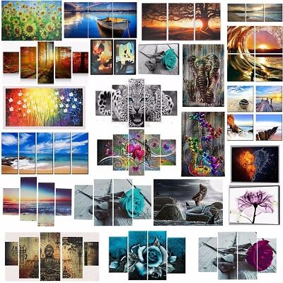 5PCS Unframed  Modern Art Canvas Oil Painting Picture Print Home Wall Decor Xmas