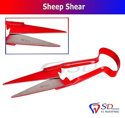 """Sheep Shears 12"""" Topiary Made Of Quality Steed Red Livestock Supplies CE NEW"""