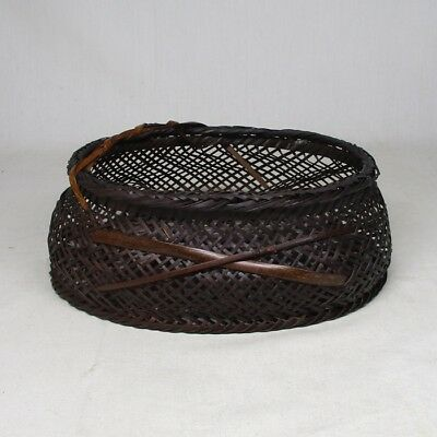 B843: Japanese bamboo weaving basket with good work and taste