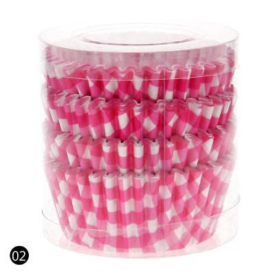 Pink 100PCS Paper Cupcake Case Wrapper Muffin Liners Baking Cups HY02