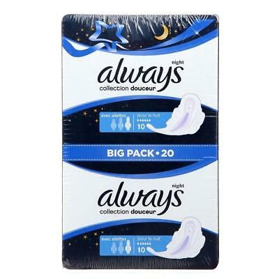 ALWAYS Serviettes hyginéniques Ultra long plus - Collection Silk