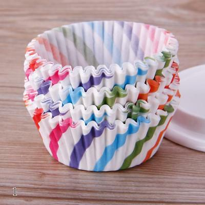 Stripe 100PCS Mini Paper Cupcake Wrapper Muffin Liners Baking Cups HY