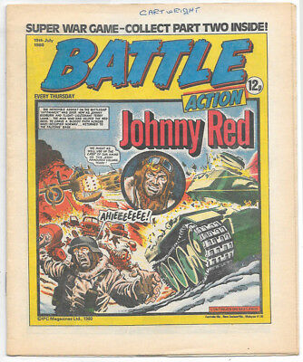 Battle Action 19 July 1980 (very high grade) Charley's War, Rat Pack, Johnny Red