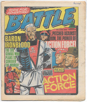 Battle 4th June 1983 (very high grade) Charley's War, Invasion 1984, Johnny Red