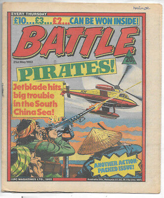 Battle 21st May 1983 (very high grade) Charley's War, Invasion 1984, Johnny Red