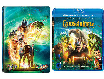 Goosebumps - Blu-ray 2D & 3D Combo (2016) / Pick Steelbook or Standard Case