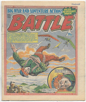 Battle 30th April 1983 (high grade) Charley's War, Invasion 1984, Johnny Red