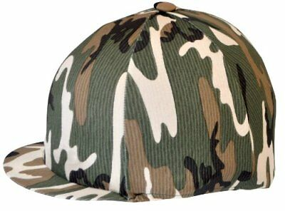 Riding Hat Cover Lycra Capz Hat Cover - Camouflage Green