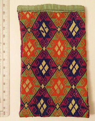 EMBROIDERED WALLET 19th CENTURY  CENTRAL ASIA