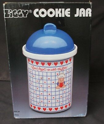 """Vintage 1985 Ziggy Don't Forget to Add The Love ! Cookie Jar by Marsh USA 10"""""""
