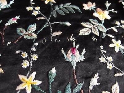 Vintage antique Victorian hand embroidery cushion cover