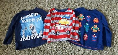 baby boys long sleeved top bundle 12 18 months robots cars ofla