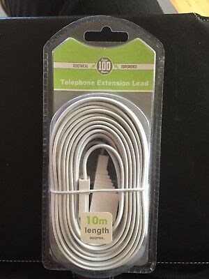 BT 10m Telephone Extension Cable Suitable for BT and Other Networks