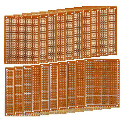 Perf Board Copper Paper Composite Pcb Single Sided Printed Circuit Boards 20-Pcs