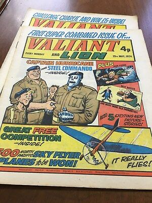 Valiant 1974-1976 (50+ issues - all listed plus duplicates)