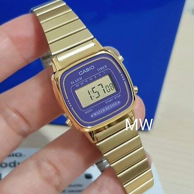 Casio LA670 LA670WGA Ladies Gold Digital Retro Vintage Womens Watch LA-670WGA-6D