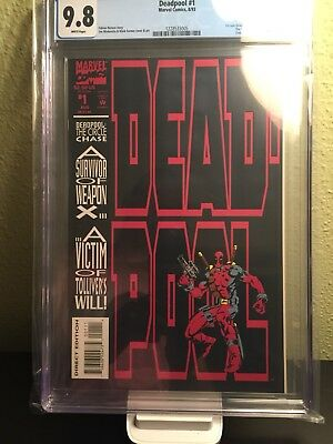 DEADPOOL: THE CIRCLE CHASE #1 CGC Graded 9.8 White Pages Deadpool 2 Cable Movie