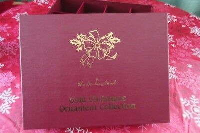 Danbury Mint 2008 Set Of 12 Gold Christmas Tree Ornaments Complete W/box