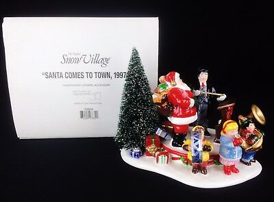 Department 56 Snow Village 1997 SANTA COMES TO TOWN 54899 Retired