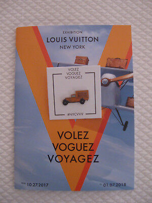 Louis Vuitton Volez Voguez Voyagez New York Exhibition Pin & Catalog (English)