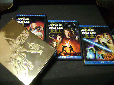 Star Wars 1-6  I II III IV V VI  COMPLETE SAGA TRIOGY& Prequel DVD Full Screen