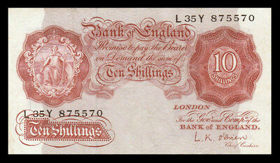 # # # Banknote Großbritannien (Great Britain) 10 Shillings (1948) # # #