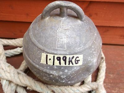 "Lighthouse Metal Fishing Float 7""Dia 1 199 Kg Made In Spain Rare Antique Deepsea"