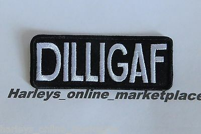 DILLIGAF motorcycle biker patch, Great quality, USA seller, ships fast from USA