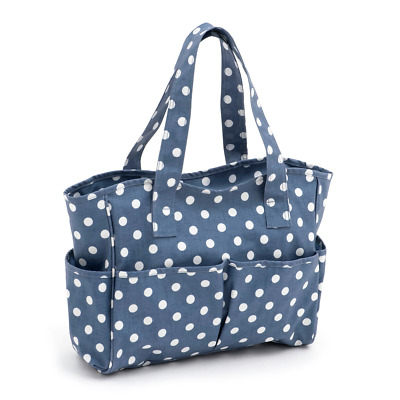 Hobby Gift 'Denim Polka Dot' Matt PVC Craft Bag 12.5 x 39 x 35cm (d/w/h)