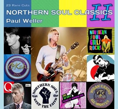 Paul Weller Rare Cd - Northern Soul Classics 2 Inc Psychedelic Badge- Fred Perry